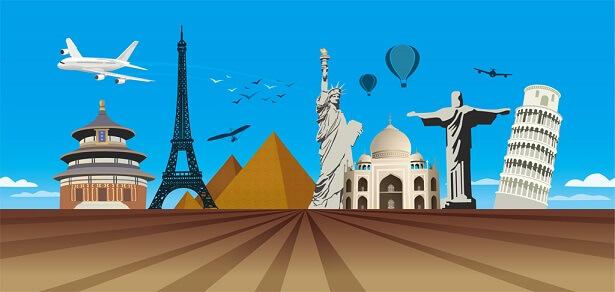 色々な行先の海外旅行
