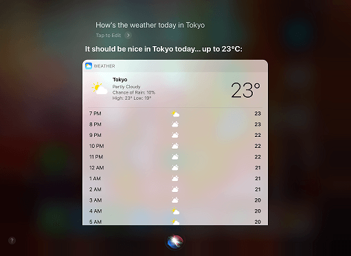 デジタル執事の天気予報
