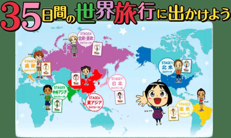 7+bilingualでは世界旅行の疑似体験ができる