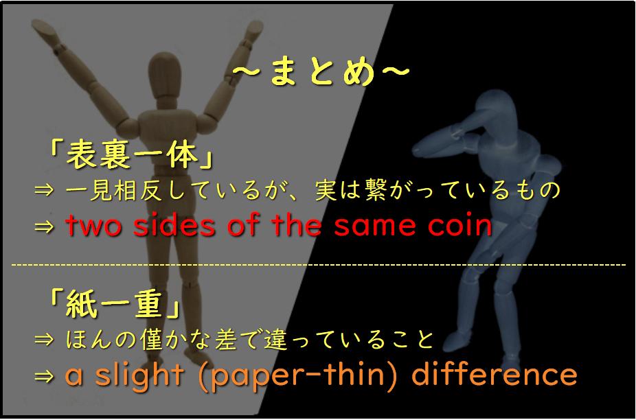 表裏一体と紙一重の違いまとめ