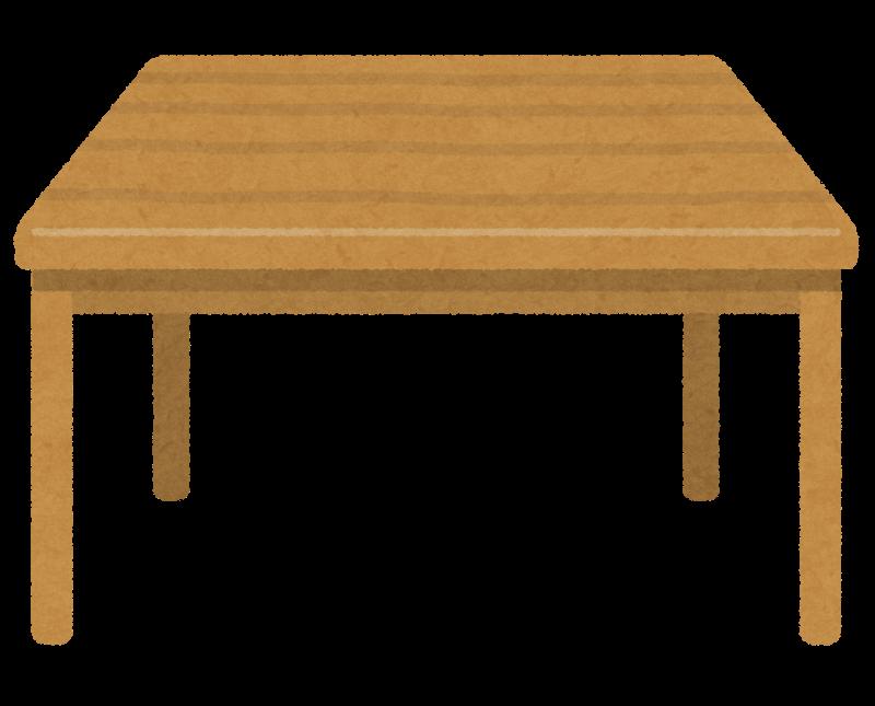 木でできた机